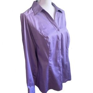 NWOT Lane Bryant Lavender Fitted Blouse Sz 16